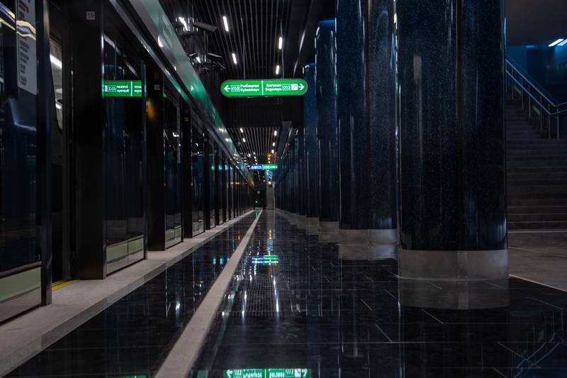 green and white lighted tunnel